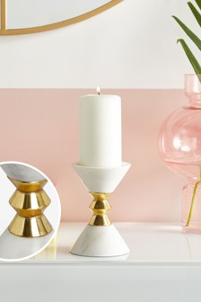 Solid Marble Candle Holder