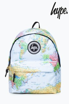 Hype. Blue Map Print Backpack