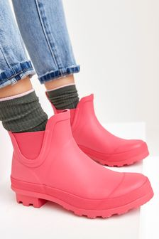 Pink Ankle Wellies