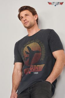 Charcoal Top Gun TV And Film Licence T-Shirt