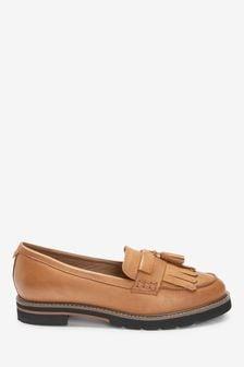 Tan Regular/Wide Fit Leather Forever Comfort® EVA Loafers