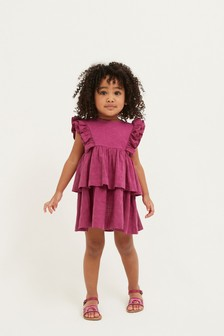 Magenta Ruffle Dress (3mths-7yrs)