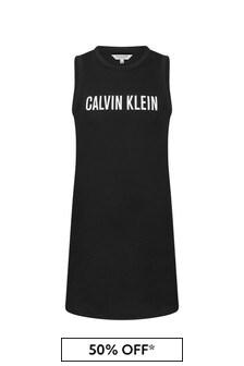 فستان قطن أسود بناتي منCalvin Klein Underwear