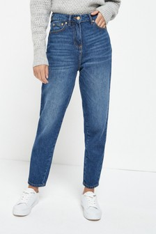 Dark Blue Tapered Leg Jeans