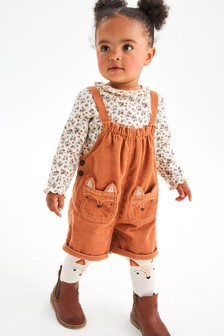Orange 3 Piece Character Dungarees With Top And Tights Set (3mths-7yrs)