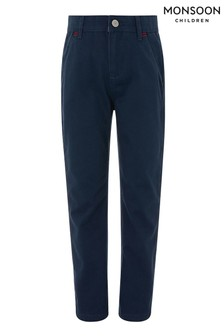 Monsoon Navy Smart Chino Trousers