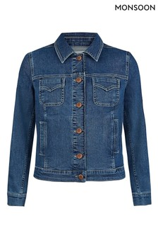 Monsoon Blue Cotton Denim Jacket