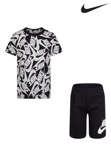 Nike Little Kids Printed T-Shirt And Shorts Set