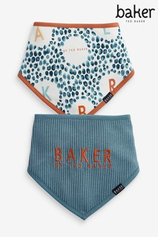 Baker by Ted Baker Baby Boy Bibs Two Pack