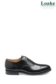 Loake Black 300BRG Oxford Toe Cap Shoes
