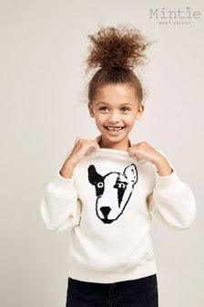 Mint Velvet Cream Sequined Dog Sweatshirt