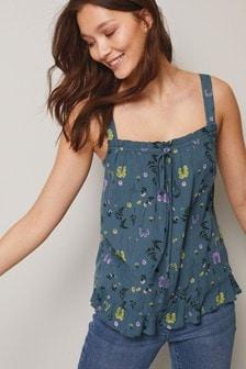 Blue Floral Cami Top