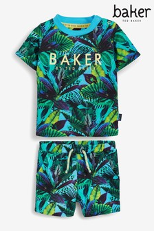 Baker by Ted Baker All Over Print Top And Shorts Set