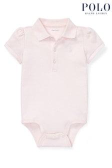 Ralph Lauren Pink Polo Bodysuit