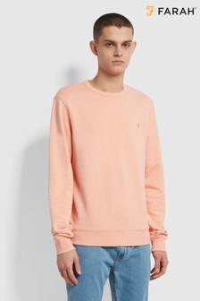 Farah Orange Tim Crew Sweater