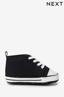 Black Lace-Up Pram Boots (0-24mths)