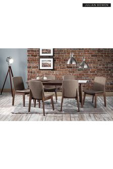 Brown Kensington Dining Table and 6 Kensington Dining Chairs by Julian Bowen