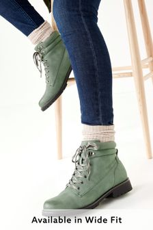 Khaki Regular/Wide Fit Forever Comfort® Casual Lace-Up Boots
