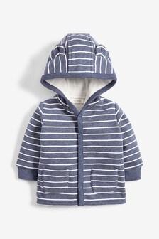 Blue Cosy Popper Lightweight Jacket (0mths-3yrs)