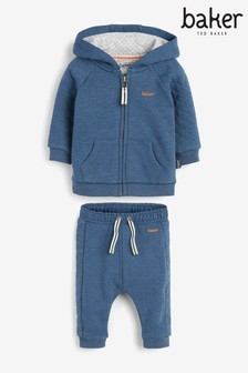 Baker by Ted Baker Boys Navy Marl Jogger Set