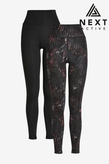 Reversible Printed Mid Waist Sculpting Sports Leggings