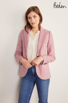 Boden Pink Atkins British Tweed Blazer