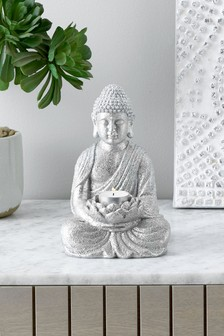 Silver Buddha Tealight Holder