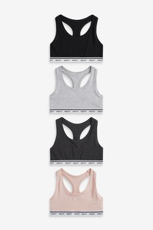 Non Pad Non Wire Crop Tops 4 Pack
