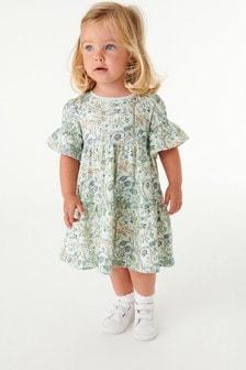 Morris & Co Floral Print Short Sleeve Dress (3mths-7yrs)