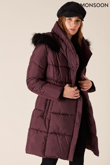 Monsoon Patsy Sustainable Long Padded Coat