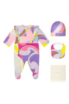 Emilio Pucci Baby Purple Cotton Gift Set