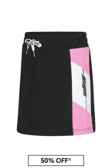 MSGM Girls Black Cotton Skirt