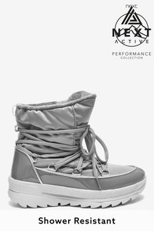 Grey Performance Water Resistant Snow Boots