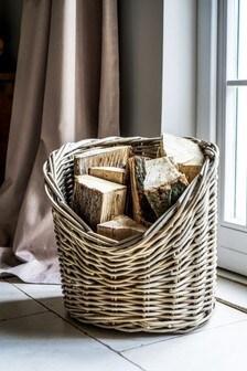 Wicker Log Round Basket by Ivyline