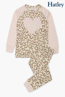 Hatley Painted Leopard Organic Cotton Raglan Pyjama Set