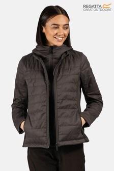 Regatta Grey Winsbury Quilted Baffle Jacket