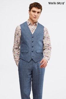 White Stuff Blue Northcote Linen Waistcoat