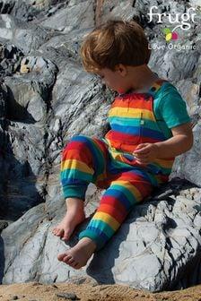 Frugi Organic Cotton Rainbow Parsnip Dungarees