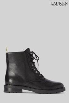 Lauren Ralph Lauren Black Ensley Ankle Boots