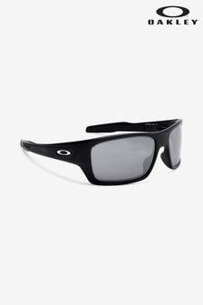 Oakley® Black/Silver Turbine Sunglasses