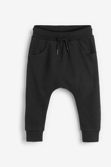 Black Drop Crotch Joggers (3mths-7yrs)