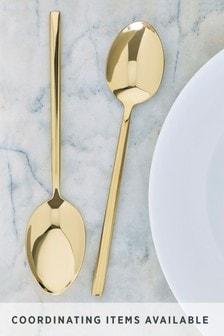 Gold Effect 2 Piece Serve Spoon Set