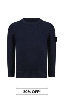 Boys Navy Knitted Jumper