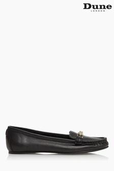 Dune London Black Georgas Snaffle Trim Comfort Loafers