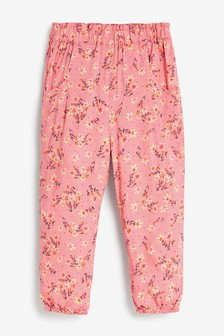 Rust Floral Pull-On Trousers (3mths-10yrs)