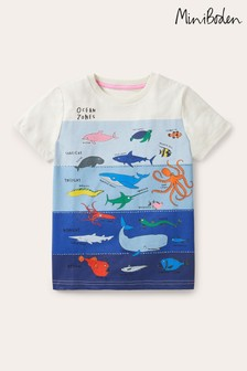 Boden Ivory Graphic Layers T-Shirt