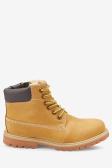 Honey Leather Work Boots (Older)