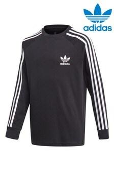 adidas Originals Black Long Sleeve T-Shirt