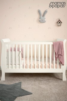 Cream Mamas & Papas Mia Sleigh Cot Bed