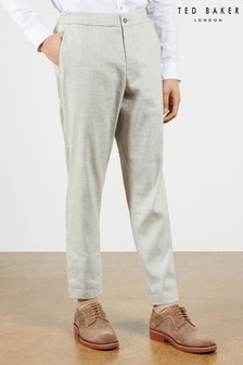 Ted Baker Yucctro Linen Blend Drawstring Trousers